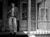 English: Norman Bates in front of the Bates Mansion as seen during the Psycho section of the Universal Studios Studio Tour in Hollywood.