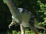 Jurassic park for kids at Museum of Earth in Kletno (Lower Silesia, Poland)