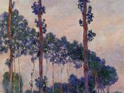 English: Three Trees in Grey Weather (1891) by Claude Oscar Monet, Private collection