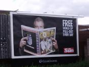 The Sun - Terry Venables - Free World Cup Pull-Out Every Day - billboard on Barford Street