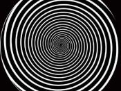 English: Hypnotic spiral for hypnotherapy. Easy instant induction technique.