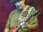 Deutsch: Carlos Santana am 21. Januar 2000 in München, Muffat-Halle