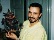 English: Special effects technician and film director Sergio Stivaletti