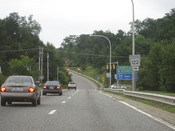 English: Northern terminus of Rhode Island Route 99 in Woonsocket, RI