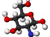 Ball and stick model of glucosamine ((2R,6R)-6-meth,-2-ol)