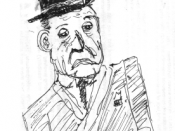 Sketch of W. Somerset Maugham.