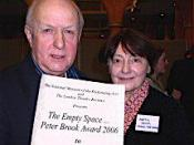 English: Sam Walters and Auriol Smith, co-directors of the Orange Tree Theatre in Richmond, were presented with the Peter Brook Empty Space Award 2006 at the Theatre Museum in London
