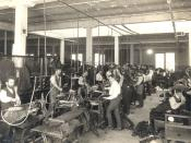 Interior of one of the Eaton's factories, Eaton's department store, Toronto, Canada