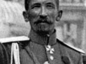 Picture of Lavr Georgiyevich Kornilov, Russian general and leader of the White movement; taken in Moscow