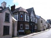 English: The Blue Bell When I was a boy of 17, I got caught drinking under age in the snug. In those days you could go out with a pound shillings drink 8 pints, get a fish & chip supper & 10 fags, and still have change. You try telling the kids today, and