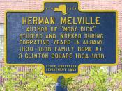 Historical marker at the site of the family home in Albany, NY.