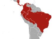 English: Bolivian Three-toed Sloth (Bradypus variegatus) range