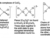 CuCl 2 chloride complexes