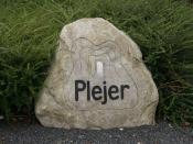 Humorous inscription on a large boulder.