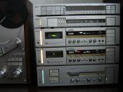 English: AKAI stack of vintage machines