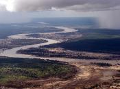 The Limpopo River, in southern Mozambique, during the 2000 Mozambique flood