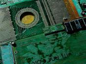 Green computer parts, GDigital DNA, City of Palo Alto, Art in Public Places, 9.01.05, California, USA 9335