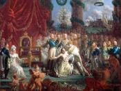 Allégorie du retour des Bourbons le 24 avril 1814 : Louis XVIII relevant la France de ses ruines, by Louis-Philippe Crépin