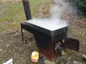 English: Boiler used to make maple syrup.