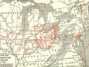 English: Whole map of the underground railroad. Nederlands: Een kaart van routes van de Underground Railroad