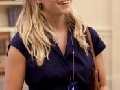 Actress Reese Witherspoon in the Oval Office on June 25, 2009.