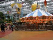 Carousel with the Splat-o-Sphere behind.
