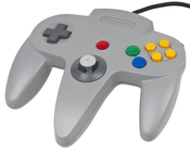 English: A gray Nintendo 64 controller, the original pack-in controller included with the console.
