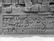 COLLECTIE TROPENMUSEUM Reliëf O 116 op de verborgen voet van de Borobudur TMnr 10015853