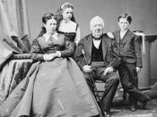 Julia Grant with family. Library of Congress description: