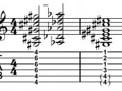 D /C barre chord (left), difficult to reach in open position (right).