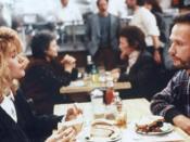 Film still from the famous restaurant scene