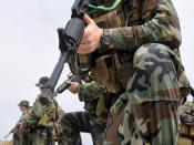 Third Phase Conducting a patrol exercise at Naval Amphibious Base Coronado.