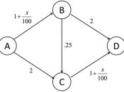 English: Graph for use in a Nash Equilibrium example.