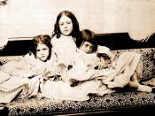 English: Edith, Lorina & Alice Liddell: This was first published in Carroll's biography by his nephew: Collingwood, Stuart Dodgson (1898). The Life and Letters of Lewis Carroll, p. 94, London: T. Fisher Unwin. Retrieved on 2010-12-22.