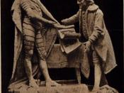 English: Picture of a statue of King Louis XVI of France and Benjamin Franklin signing the Treaty of Alliance