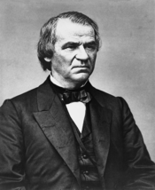 Andrew Johnson, half-length portrait, facing left