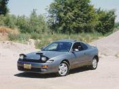 English: 1993 Toyota Celica GT-Four All-Trac Turbo (ST185L-BLMVZA) shown in Graphite Gray Metallic (colour code 182). Photo by Celica21gtfour.