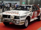 English: Toyota Celica (1984 Group B),the car which won the championship at Safari Rally. 日本語: トヨタ・セリカ(1984年グループB仕様)。サファリラリーで優勝したマシン。2007年ノスタルジックカー・ショー(東京ビッグサイト)にて撮影。