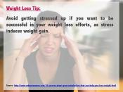 Weight Loss Tip - Reduce Stress