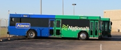English: Alamo Rent A Car and National Car Rental airport shuttle bus, Detroit Metro Airport.