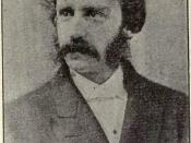 Portrait of Bret Harte 1868 from Overland Monthly, August 1920