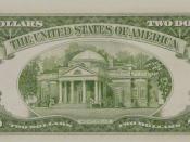 Reverse of Series 1953A $2 bill