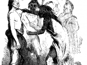 Illustration of Daniel Boone's ritual adoption by the Shawnees, from Life & Times of Col. Daniel Boone , by Cecil B. Hartley