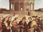 The Marriage of the Virgin (Raphael) showing the Temple depicted in the shape of the Dome of the Rock