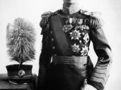 Puyi Emperor wearing Mǎnzhōuguó uniform (1932-1945).