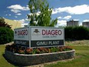 English: Diageo global Crown Royal supply plant, Gimli, Manitoba, Canada