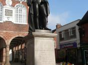 English: Statue of The Right Honourable Sir Robert Peel Bart. This is the statue of Sir Robert Peel MP for Tamworth until 1850