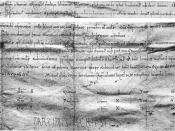 Autograph signature of Rodrigo Díaz, [also] called El Cid, in a document by him that that he makes a donation to the Cathedral of Valencia. original [is] in [the] Archive of the Cathedral of Salamanca, box 43, list 2, number 72. It reads in Latin: ego rud