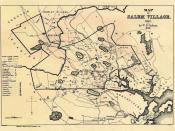 Map of Salem Village, Massachusetts, 1692