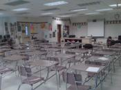 English: Classroom at Port Charlotte High School where the English language is taught, specifically British Literature in this case as it is an English 4 classroom. This room is also used by the Yearbook Team for the production of the school yearbook, sin